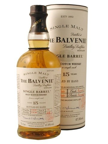Skotska whisky Balvenie Single Barrel 15y 0