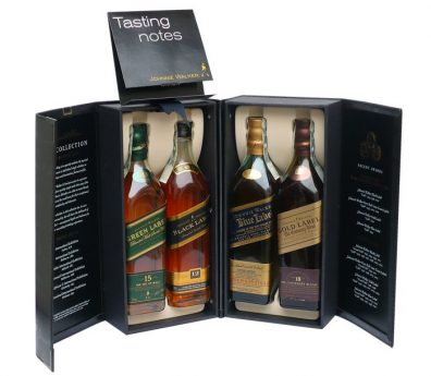 Skotska whisky Johnnie Walker Collection 4x 0